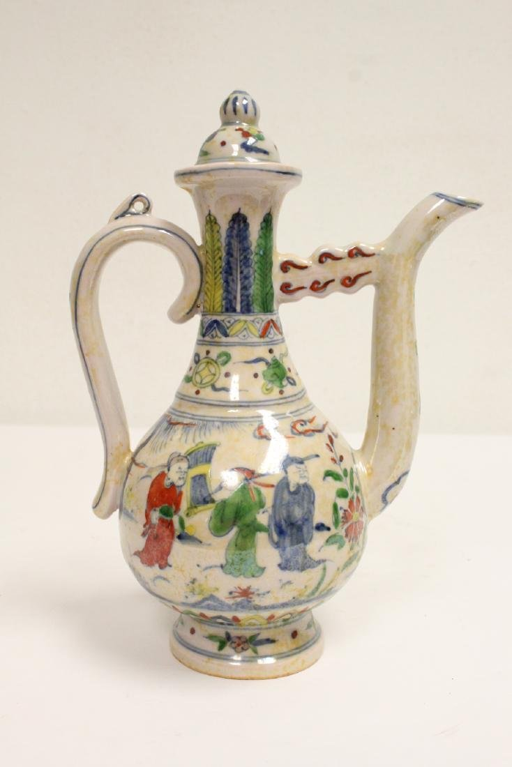 Chinese wucai porcelain wine server - 3