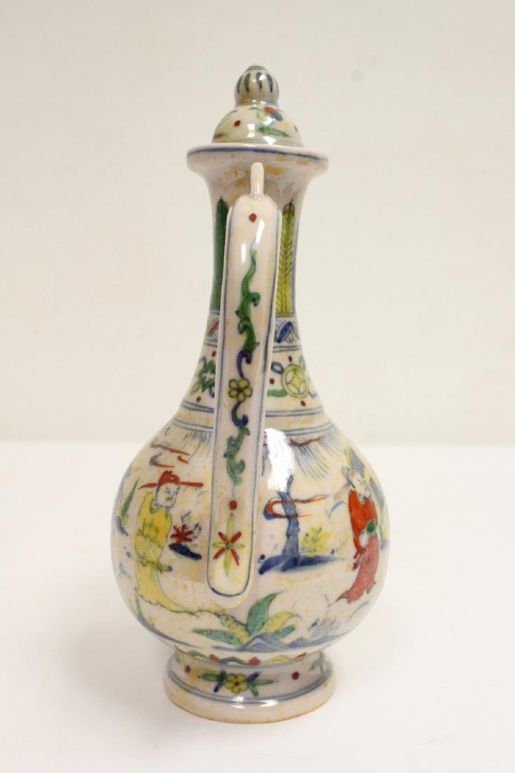 Chinese wucai porcelain wine server - 4