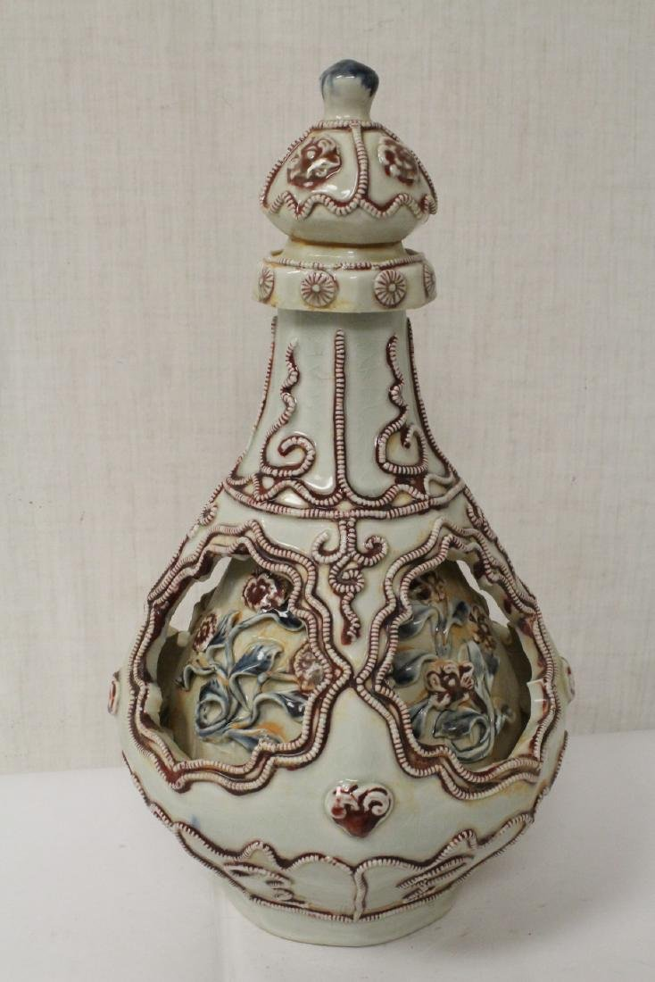 Unusual Chinese Song style covered jar - 2