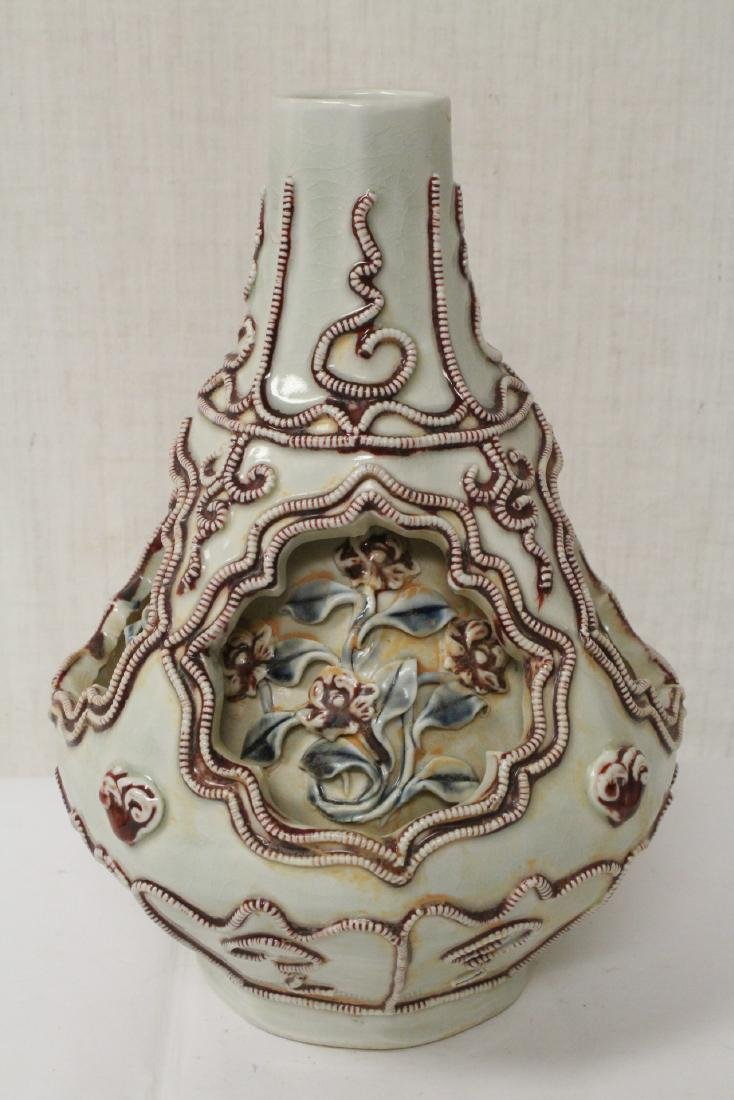 Unusual Chinese Song style covered jar - 4