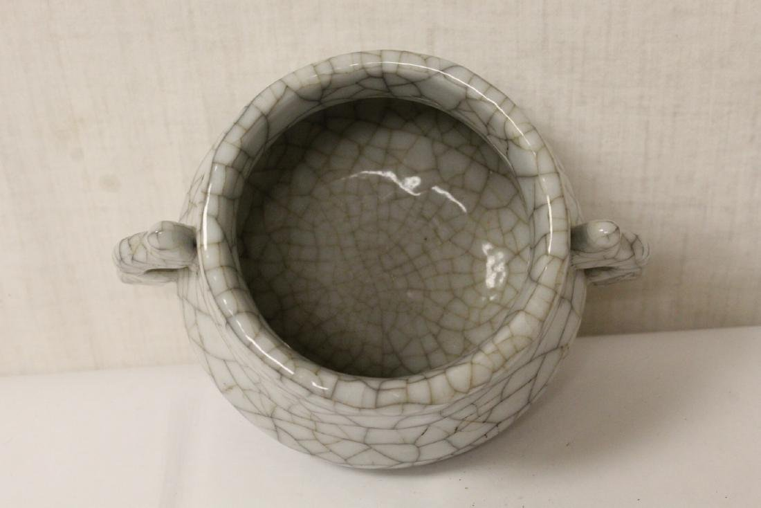 Chinese Song style porcelain censer - 7
