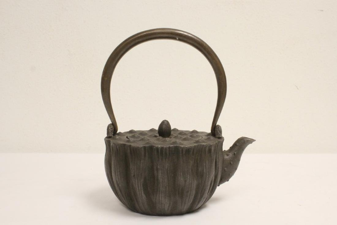 Chinese cast iron teapot - 3