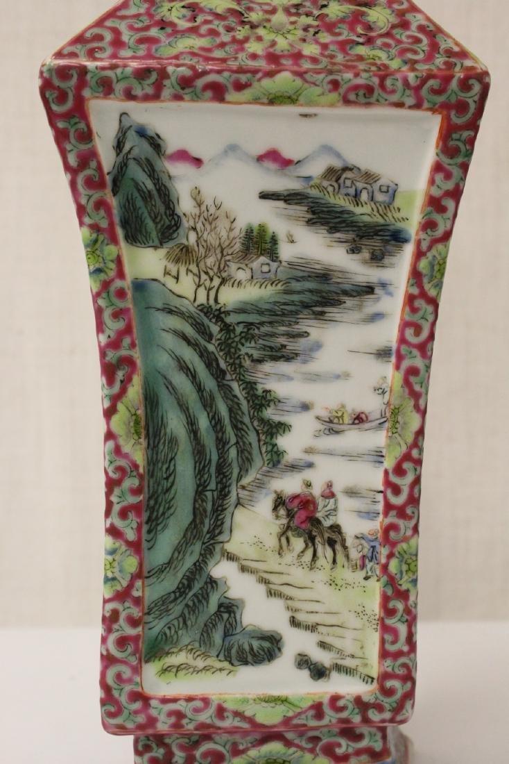 Pair Chinese antique lorenz shape vase - 10