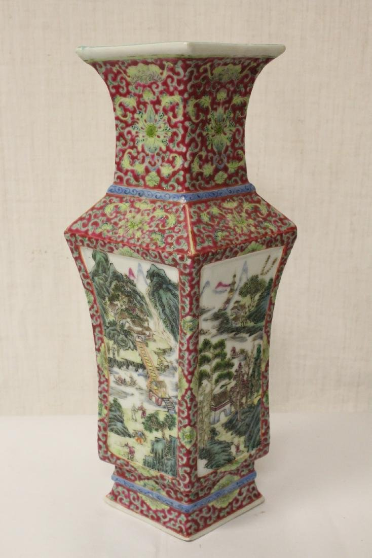 Pair Chinese antique lorenz shape vase - 5