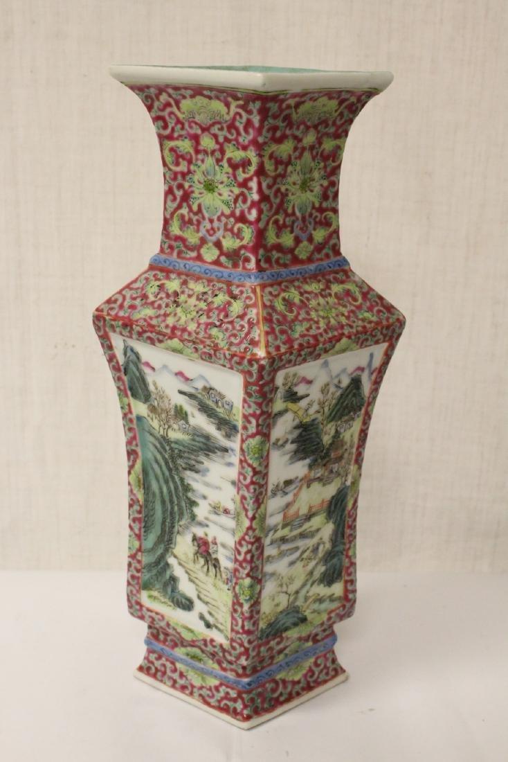 Pair Chinese antique lorenz shape vase - 6