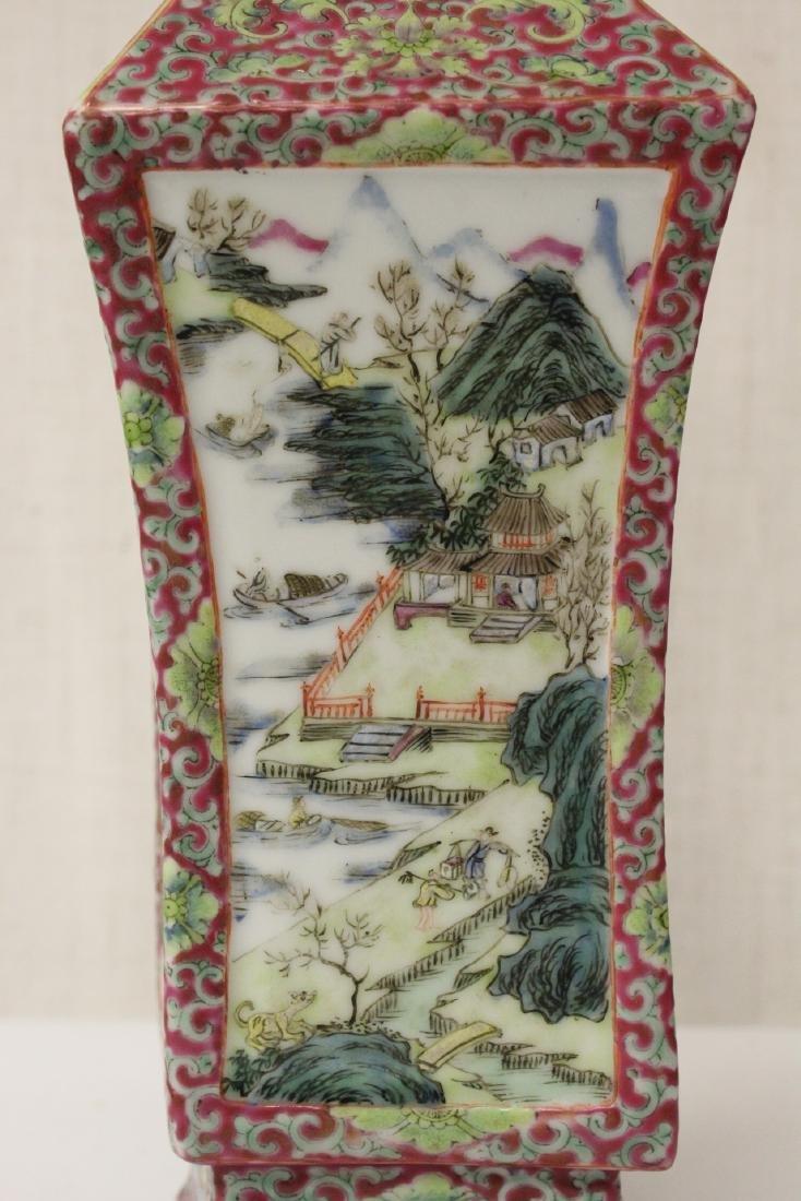 Pair Chinese antique lorenz shape vase - 7