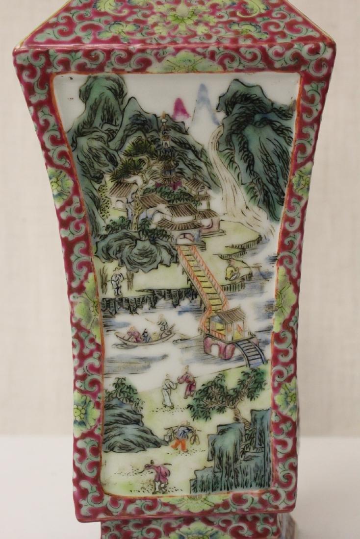 Pair Chinese antique lorenz shape vase - 8