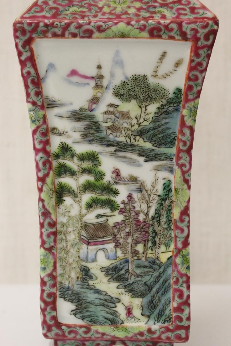 Pair Chinese antique lorenz shape vase - 9