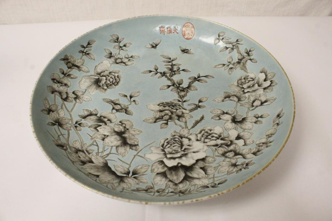 Large Chinese famille rose porcelain charger - 5