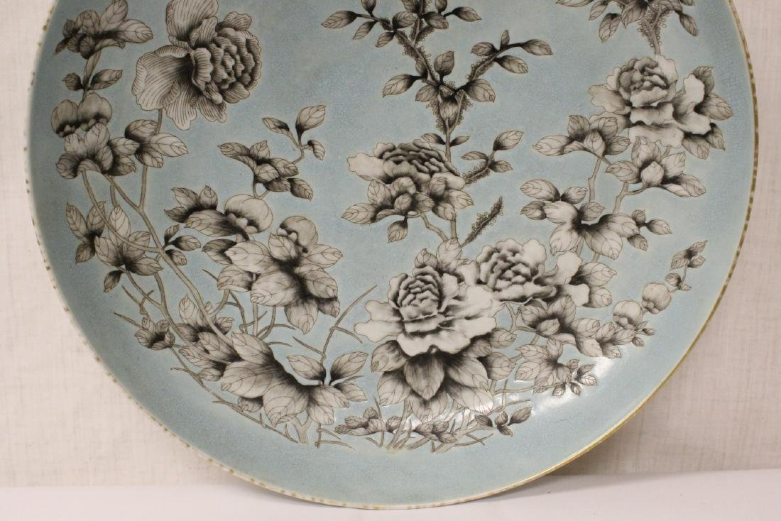 Large Chinese famille rose porcelain charger - 6