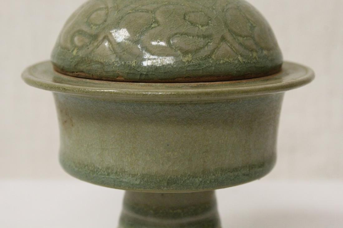 Chinese Song style stem covered bowl - 5