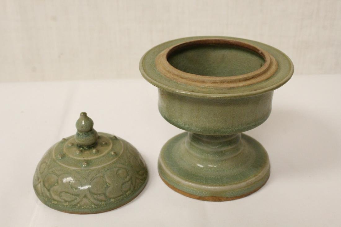 Chinese Song style stem covered bowl - 6