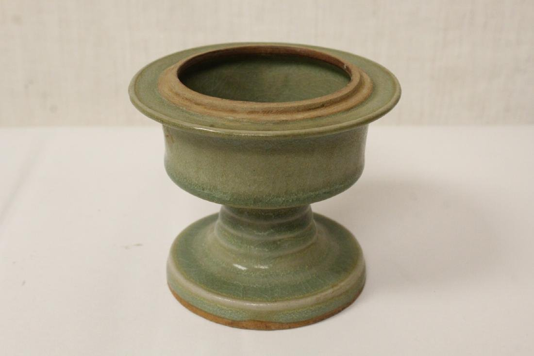 Chinese Song style stem covered bowl - 7