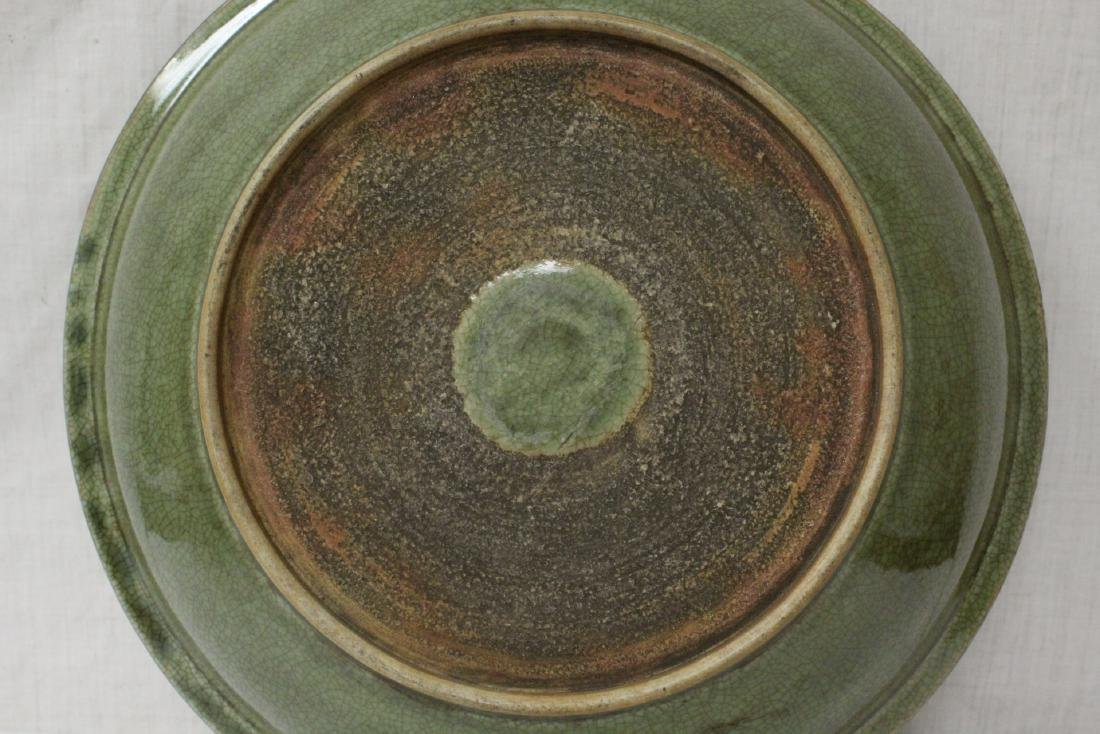 Large Chinese Song style celadon charger - 10