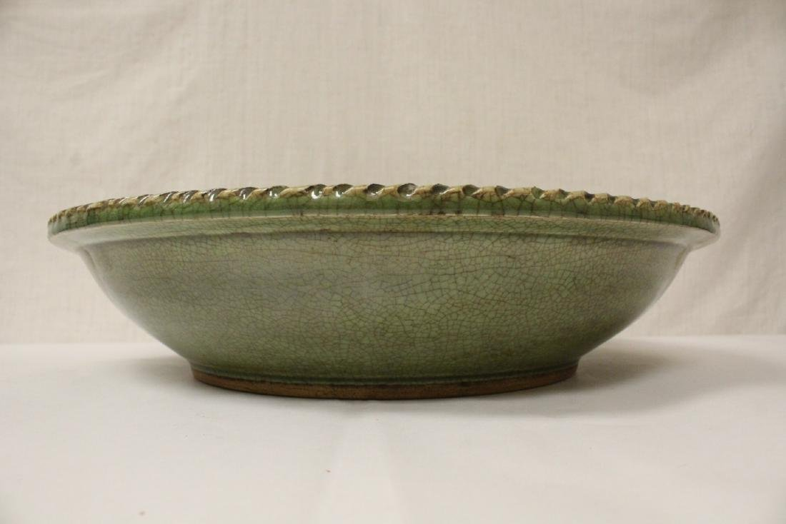Large Chinese Song style celadon charger - 5