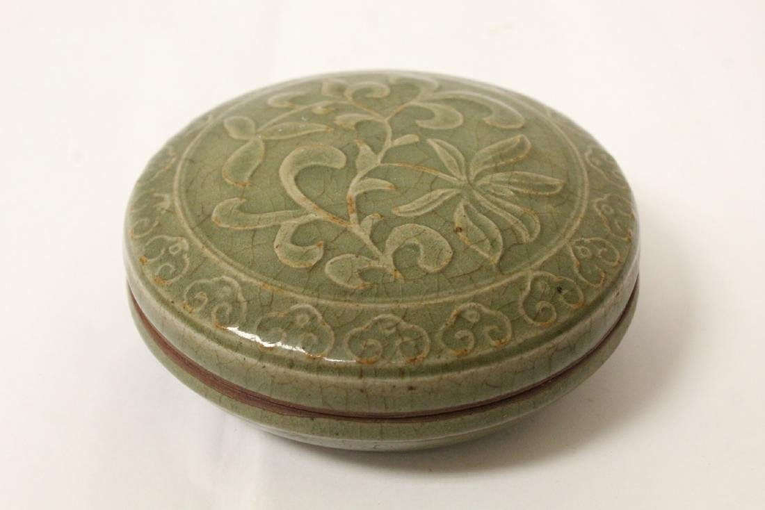 Chinese Song style celadon porcelain box
