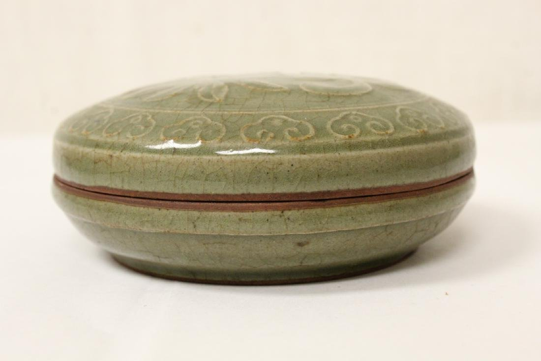 Chinese Song style celadon porcelain box - 3