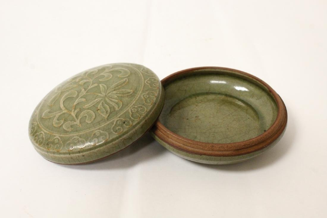Chinese Song style celadon porcelain box - 4