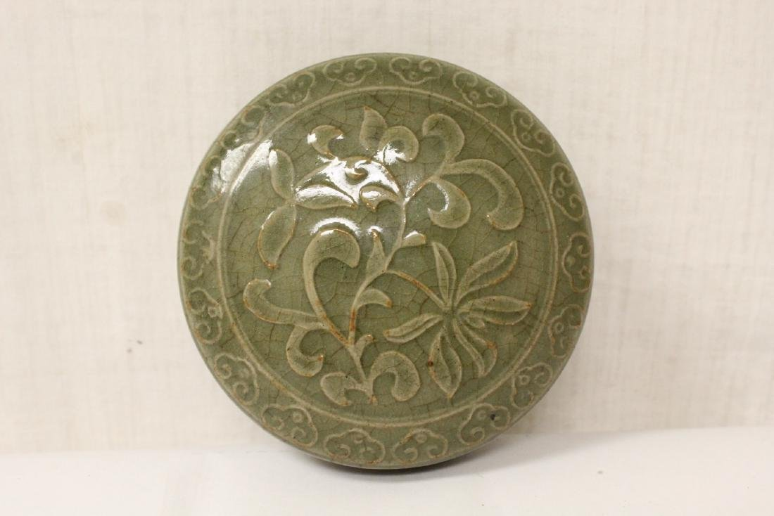Chinese Song style celadon porcelain box - 8