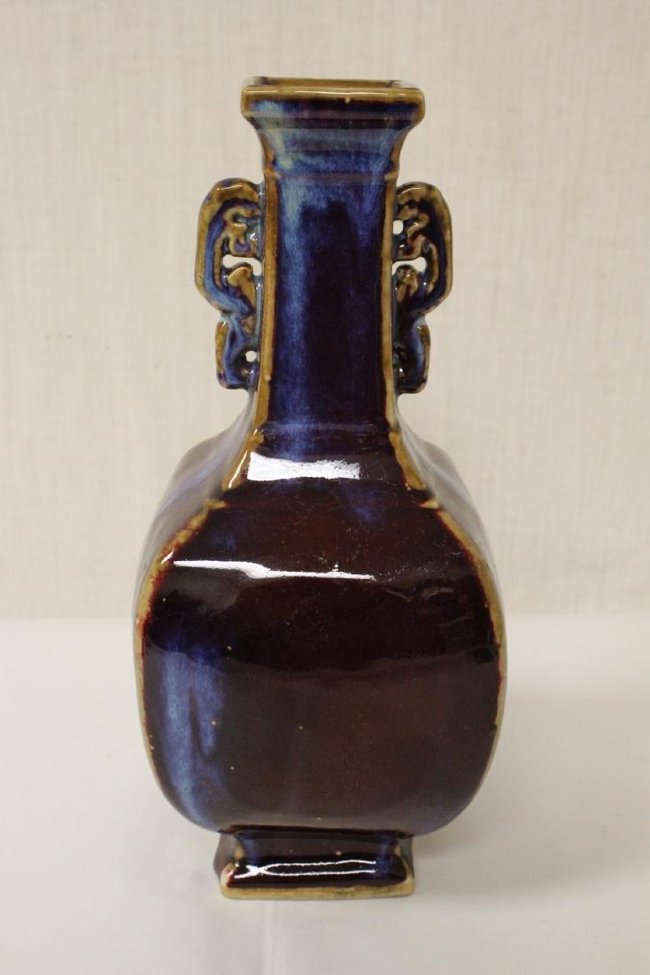 Chinese red glaze porcelain vase