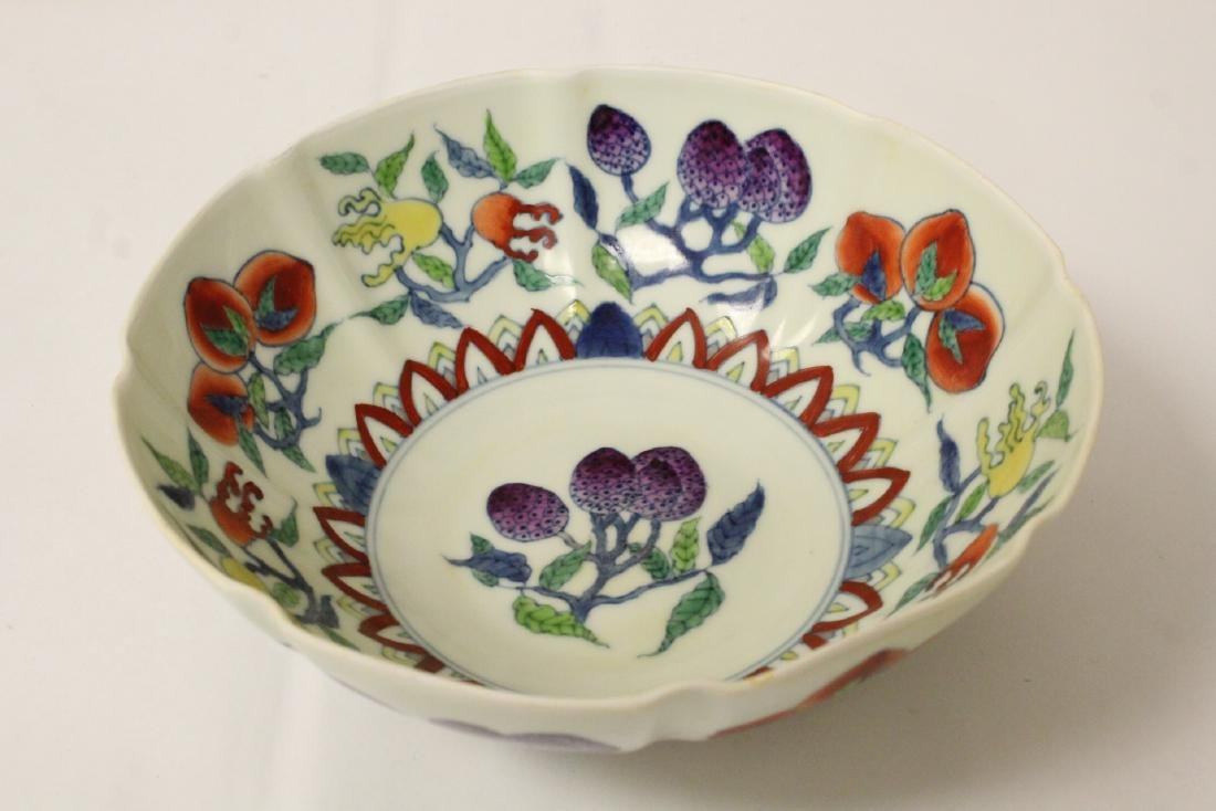Chinese wucai porcelain bowl