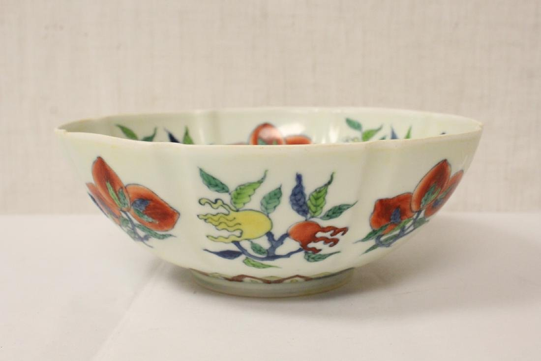 Chinese wucai porcelain bowl - 4