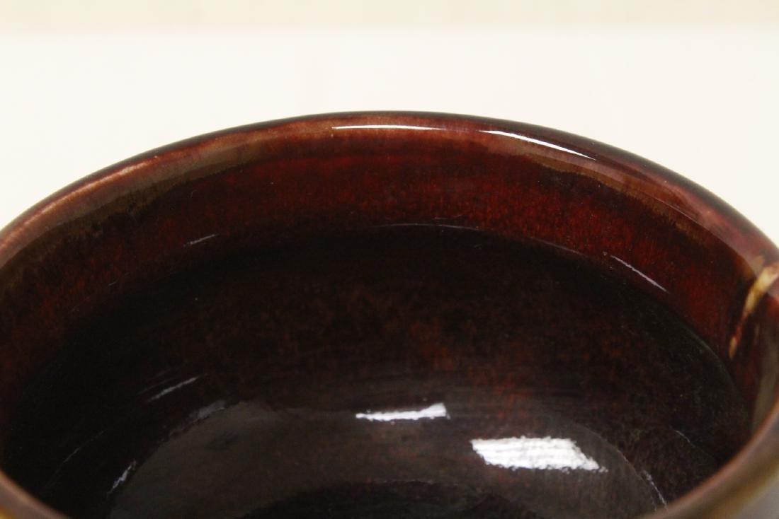 Chinese red glaze porcelain tripod censer - 9