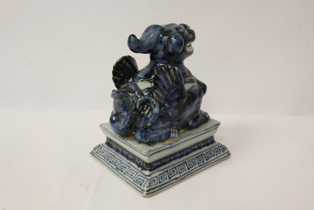 Blue and white porcelain qilin - 6