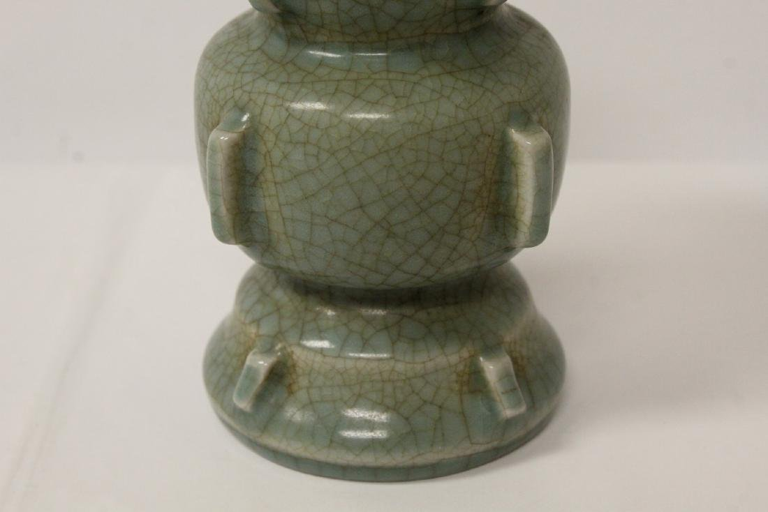 Song style celadon vase - 4