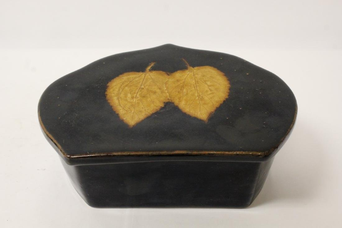 Song style brown glazed pillow