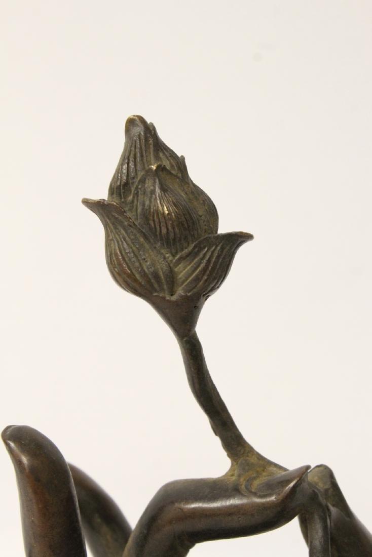 Bronze sculpture of Buddha hand - 8