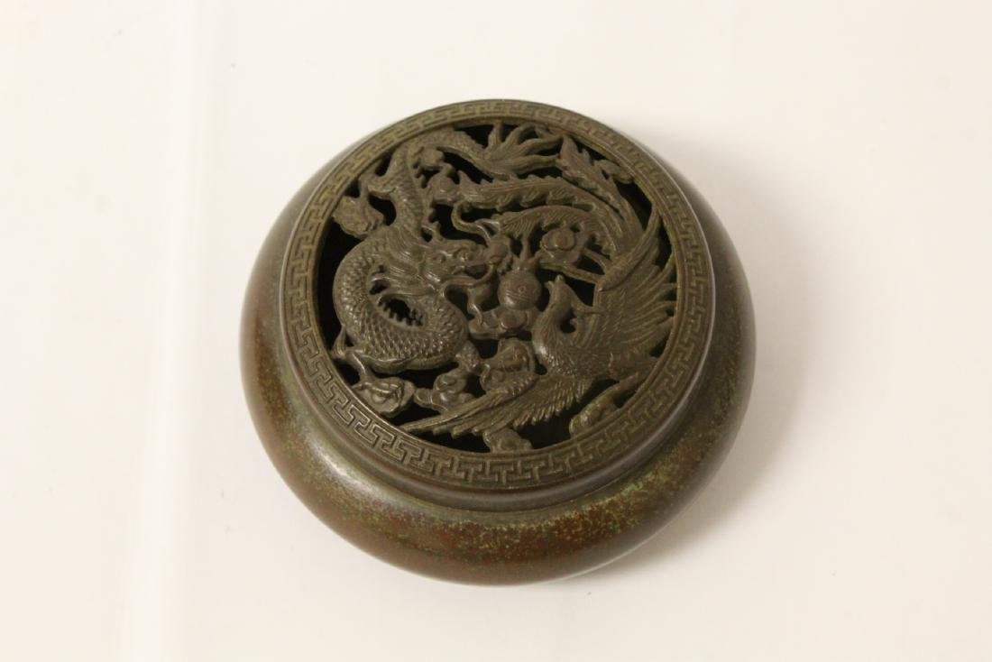 Very heavy bronze covered censer