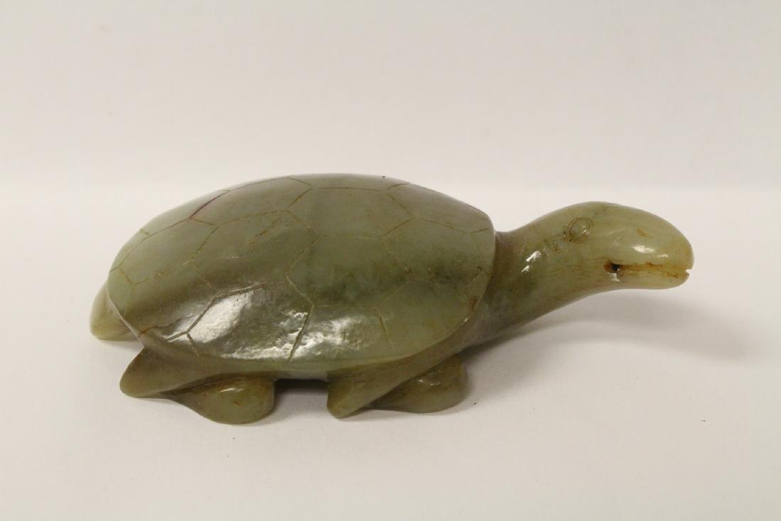 Jade carved turtle