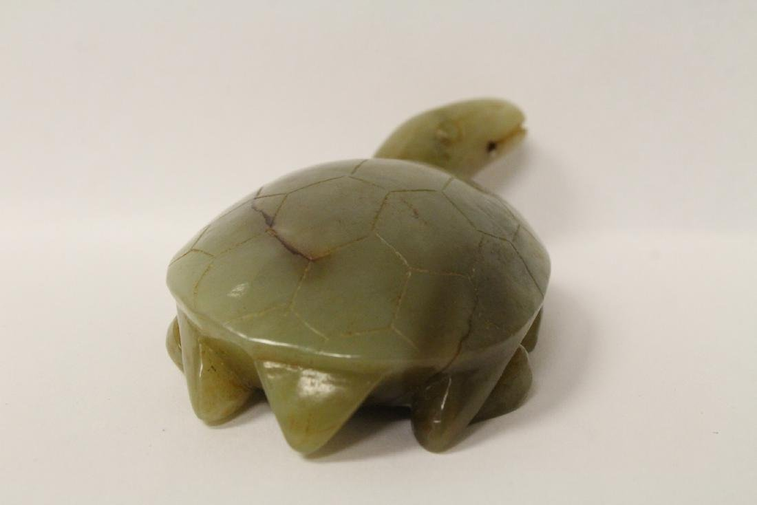 Jade carved turtle - 6
