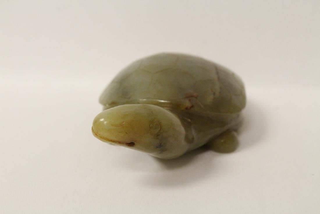 Jade carved turtle - 7
