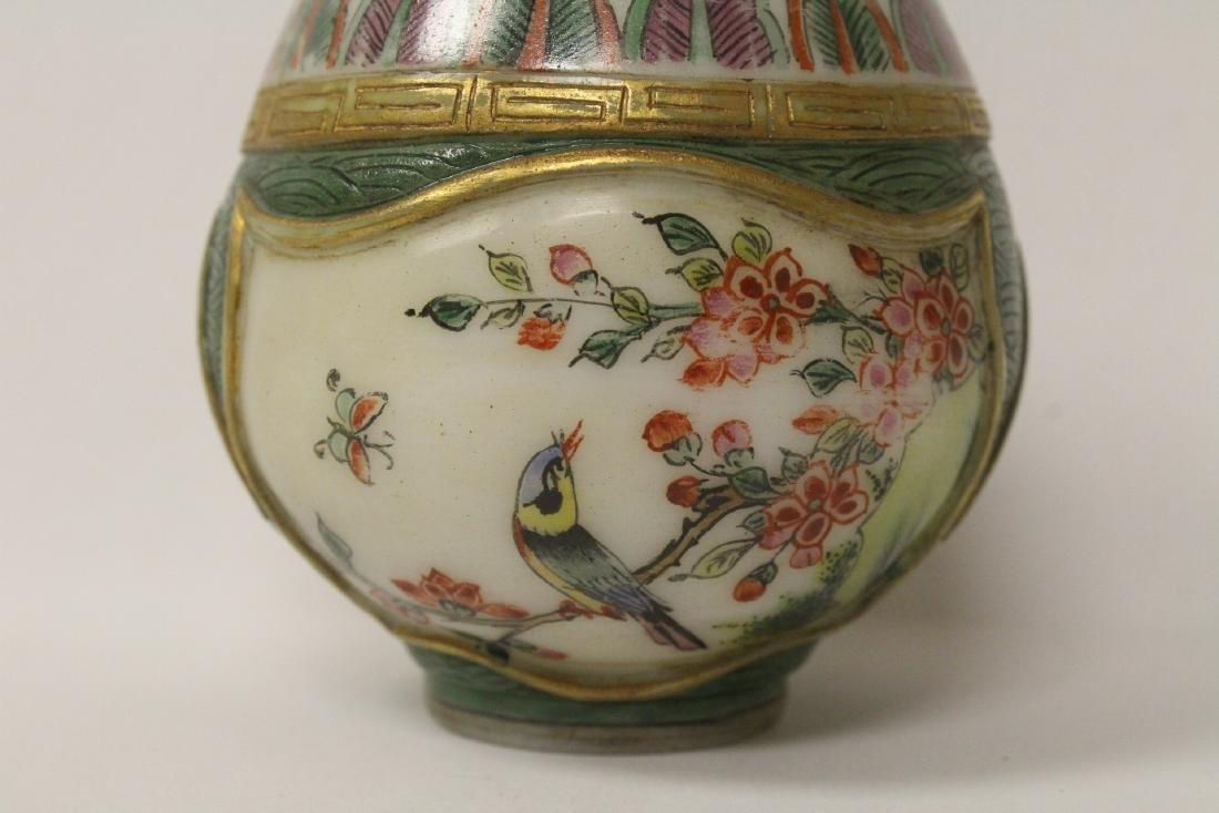Enamel on Peking glass small jar - 6