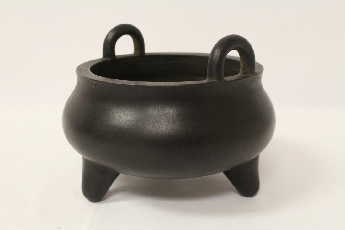 Unusual Yixing censer - 3