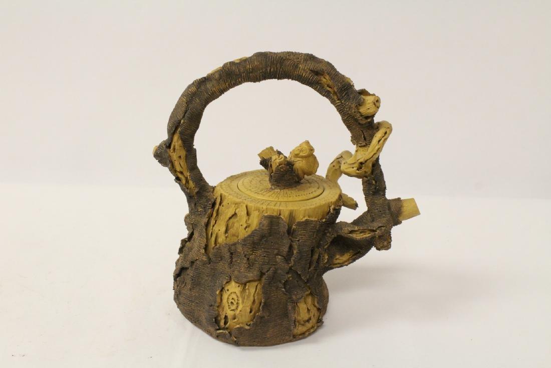 Unusual Yixing teapot - 4