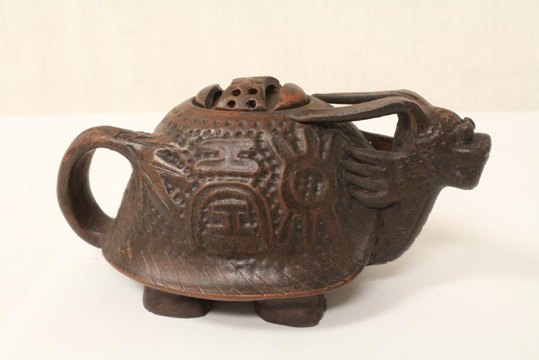 3 Chinese Yixing teapots - 2