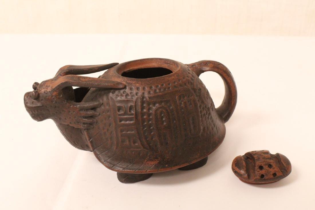 3 Chinese Yixing teapots - 3