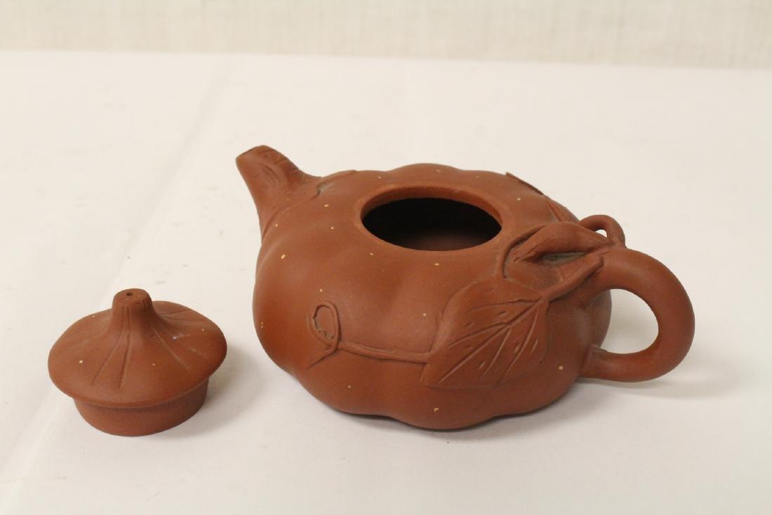 3 Chinese Yixing teapots - 6