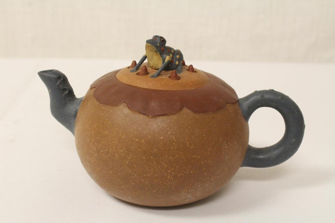 3 Chinese Yixing teapots - 8