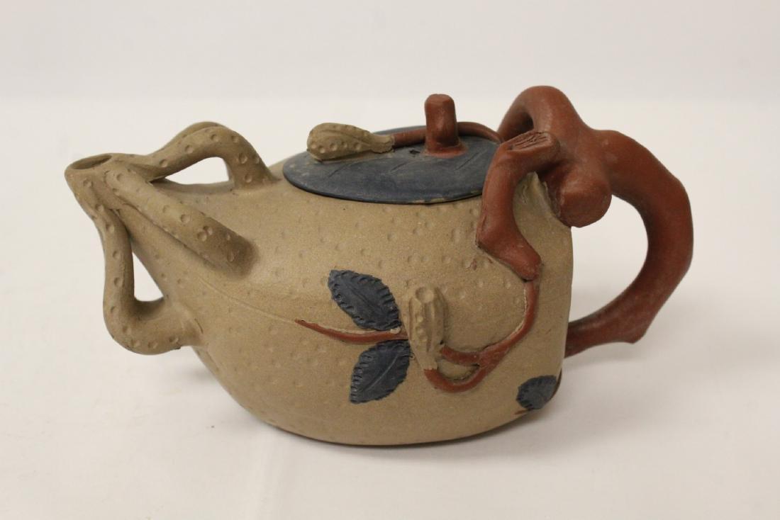 3 Chinese Yixing teapots - 4