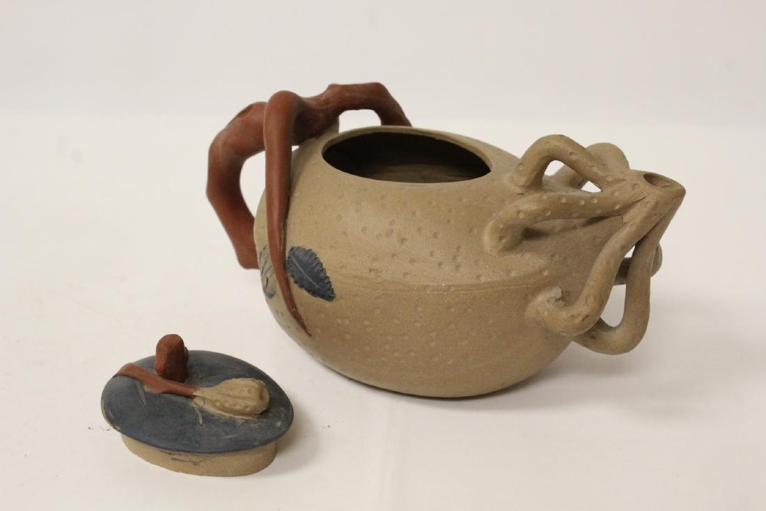 3 Chinese Yixing teapots - 5