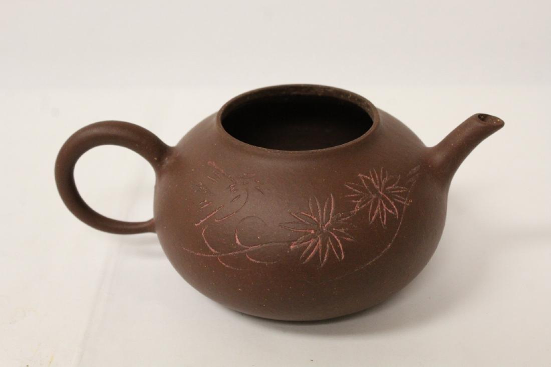 3 Chinese Yixing teapots - 9