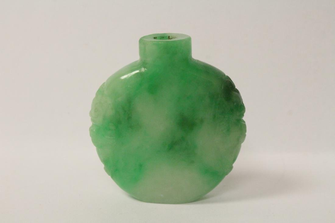 Jadeite like stone snuff bottle