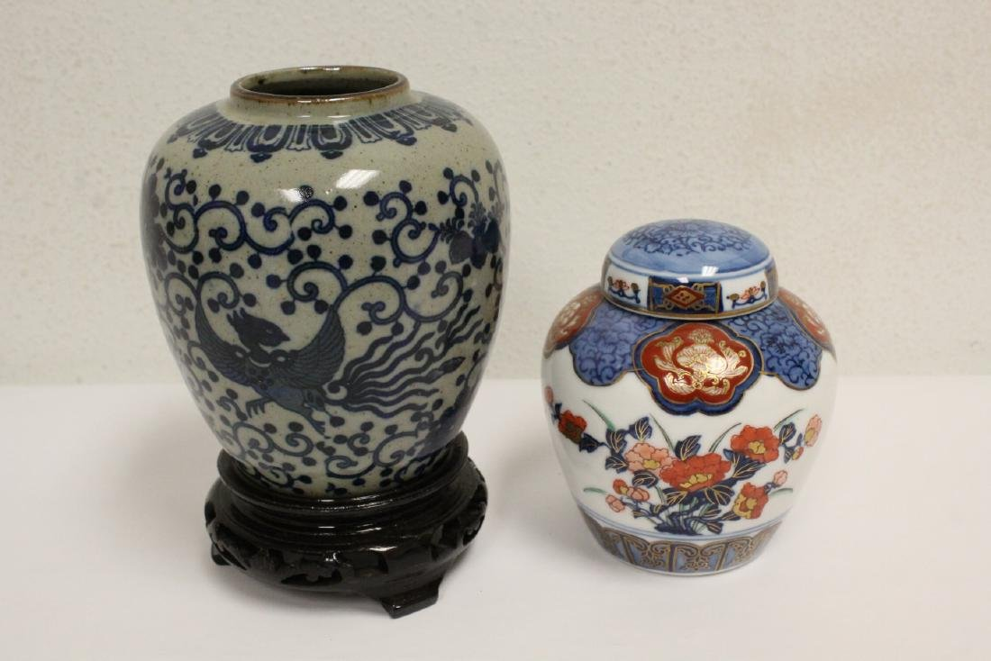 Large lot of Japanese porcelain pc, & a bronze jue - 5
