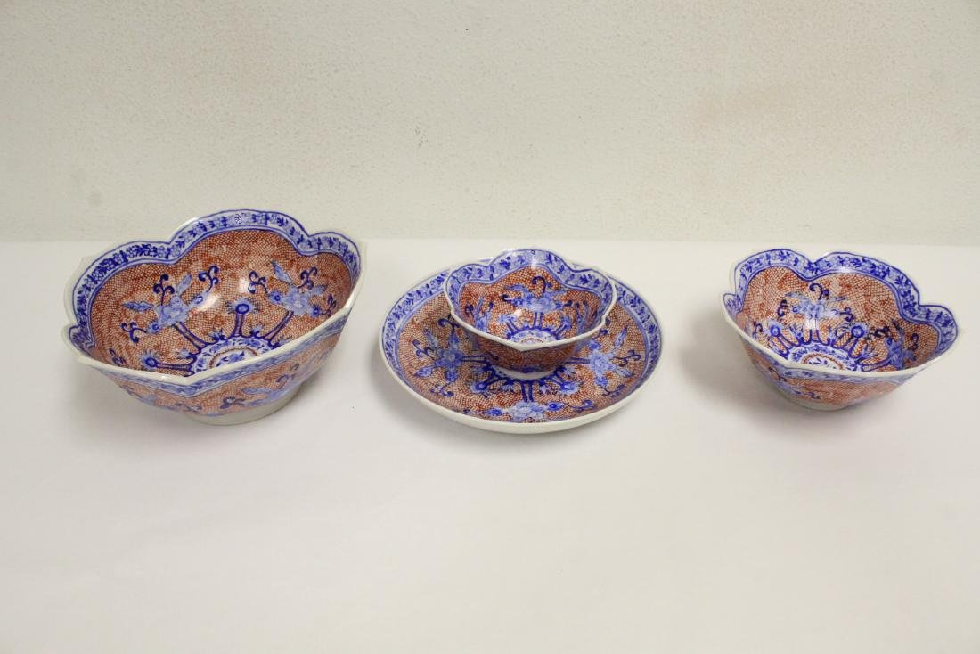 Large lot of Japanese porcelain pc, & a bronze jue - 6