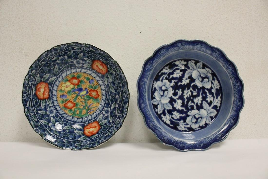 Large lot of Japanese porcelain pc, & a bronze jue - 8