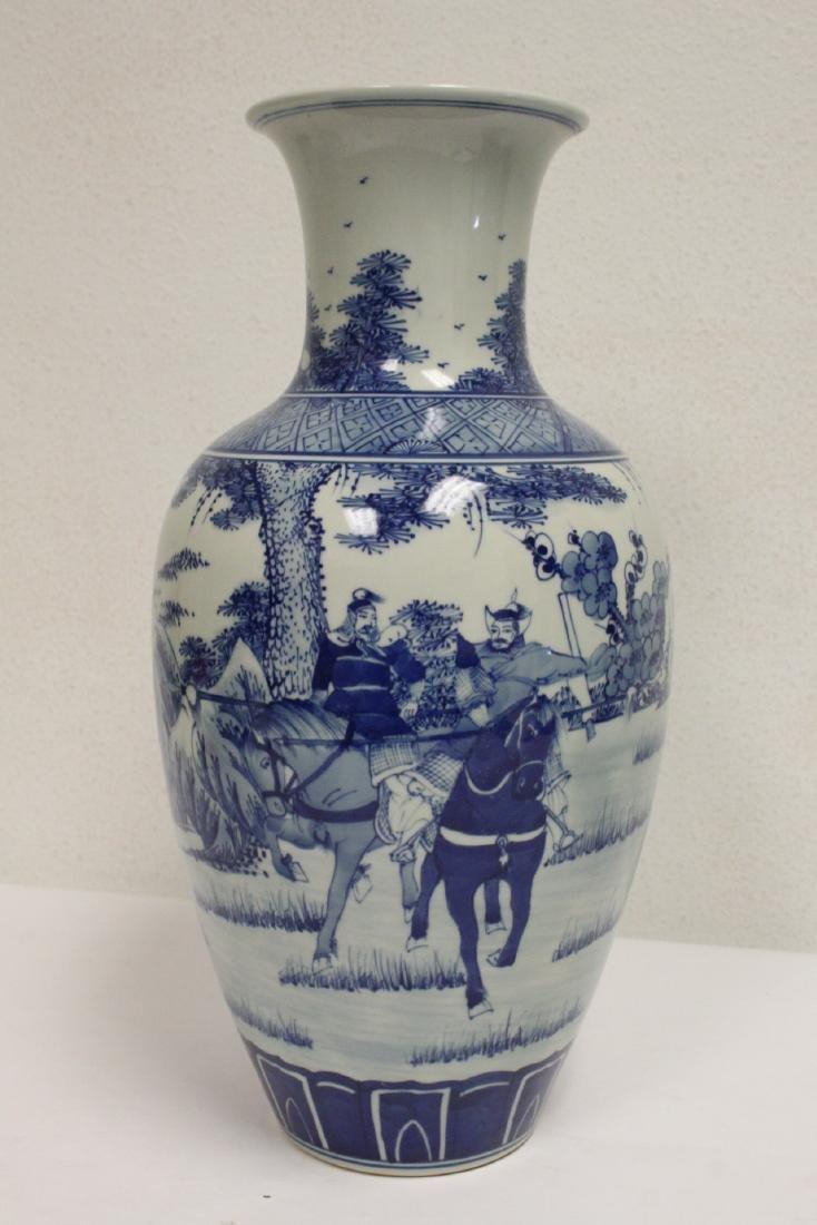 2 blue and white porcelain vases - 7